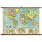 Cavallini World Map Vintage School Chart
