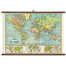 Cavallini World Map Vintage School Chart