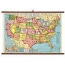 Cavallini U.S. Map Vintage School Chart