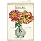Cavallini Fleur 2 Thank You Card