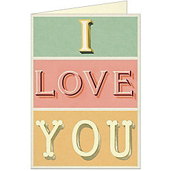 Cavallini I Love You Greeting Card