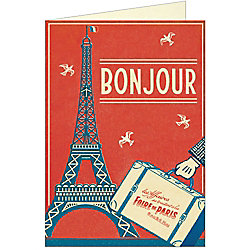 Cavallini Bonjour Paris Greeting Card