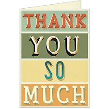 Cavallini Thank You Typography Card