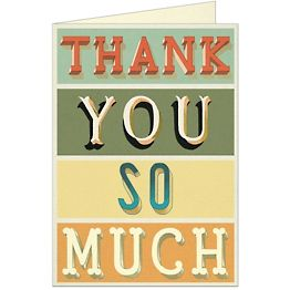 Thank You Typography Card