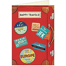 Cavallini Happy Travels Greeting Card
