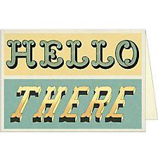 Cavallini Hello There Greeting Card
