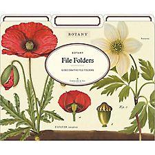 Cavallini Botany File Folders