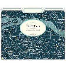 Cavallini Celestial File Folders