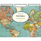 Cavallini World Map 2 File Folders