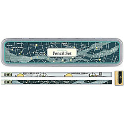 Cavallini Celestial Pencil Tin - Set of 10