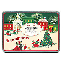 Vintage Christmas Village Mailing Set