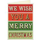 Merry Christmas Card by Cavallini