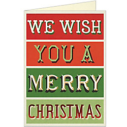 Merry Christmas Card by Cavallini