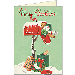 Christmas Mailbox Card by Cavallini