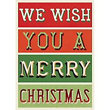 We Wish You A Merry Xmas Wrap by Cavallini