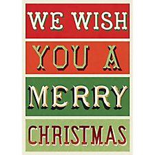 We Wish You A Merry Xmas Wrap by Cavallini