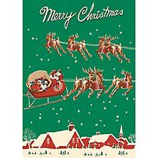Santa & Sleigh Wrap by Cavallini