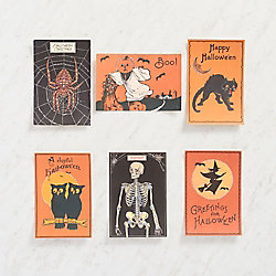 Glitter Skeleton Postcards