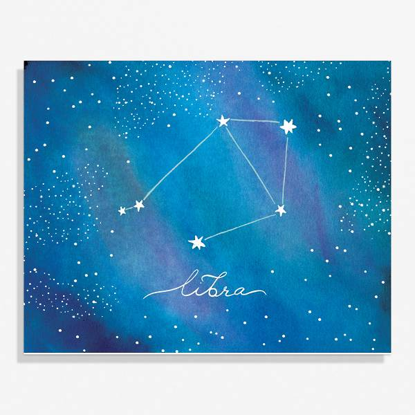 Constellation Libra Medium Art Print.