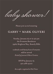 Softhand Type Baby Shower Invitation