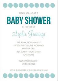 Big Dots Baby Shower Invitation