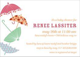 Parasol Baby Shower Invitation