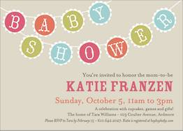 Scallop Flags Baby Shower Invitation