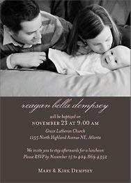 Softhand Type Girl Baptism Invitation