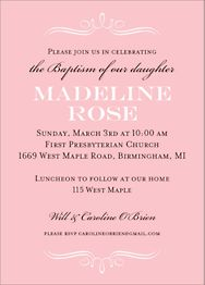 Vintage Marquis Girl Baptism Invitation