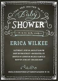 Chalk Baby Shower Invitation