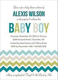 Multi Chevron Boy Baby Shower Invitation