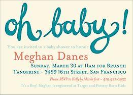 Oh Baby Boy Shower Invitation