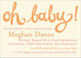 Oh Baby Girl Shower Invitation