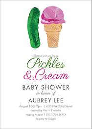 Pickles Cream Baby Shower Invitation