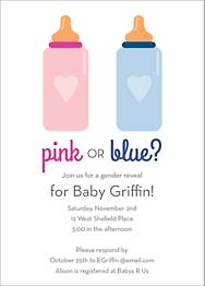 Pink Or Blue Baby Shower Invitation