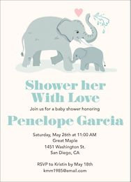 Shower Love Baby Shower Invitation