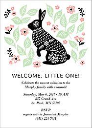 Bunny Baby Shower Invitation