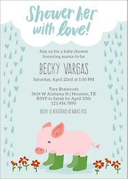 Shower Her With Love Baby Shower Invitation