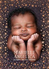 Starry Border Vertical Birth Announcement
