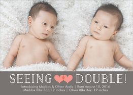 Seeing Double Birth Announcement