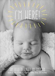 I'm Here Birth Announcement