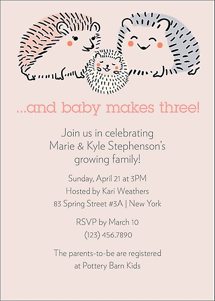 Hedgehogs Baby Shower Invitation Paper Source