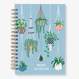 17-Month Hanging Plants Custom Planner