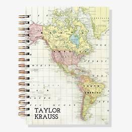 17-Month Map Custom Planner