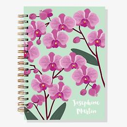 17-Month Orchid Custom Planner