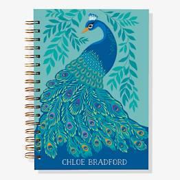 17-Month Peacock Custom Planner