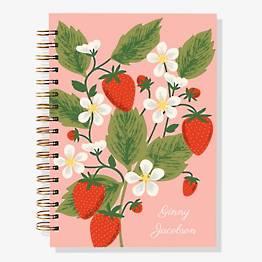 17-Month Strawberry Custom Planner