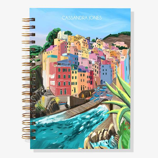 Customizable Planner with painted coast design