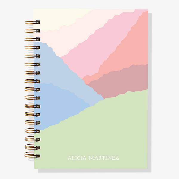 12-Month Soft Hills Custom Planner