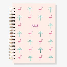 17-Month Flamingo Palm Custom Planner